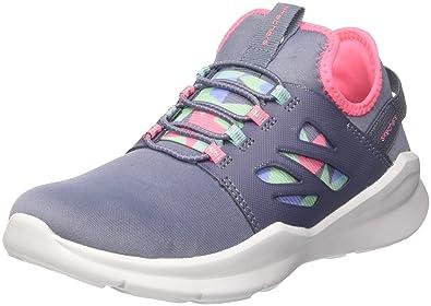 Skechers Mädchen Street Squad Slip on Sneaker, Grau (Grey/Multicolour), 33 EU