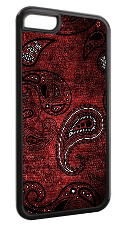 competitive price 945c7 9e363 Red Bandana-Paisley Iphone 6 Black Plastic case - compatible with Iphone 6  only