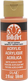 product image for FolkArt Acrylic Paint, 2 oz, Hot Saffron, 2 Fl Oz