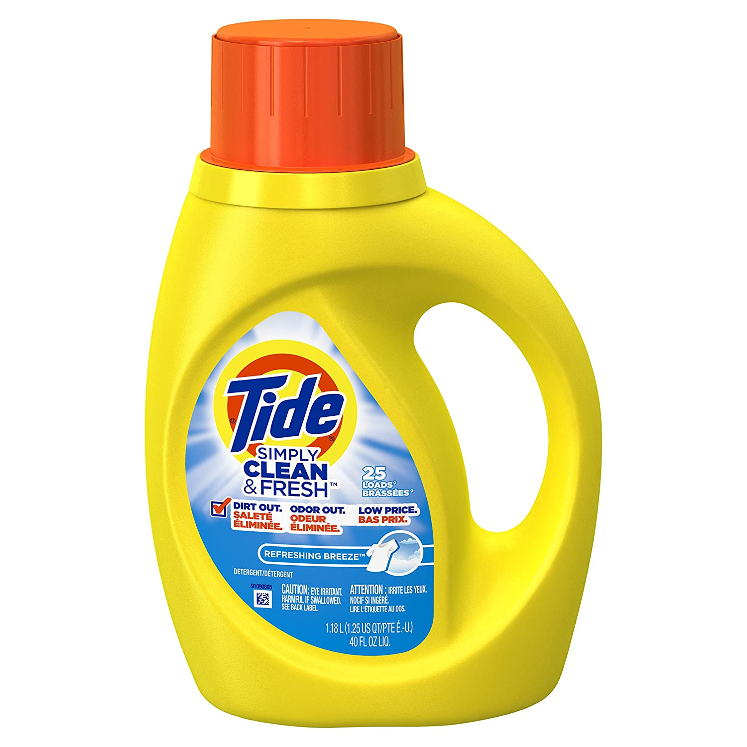 Tide Simply Clean & Fresh Liquid Laundry Detergent Refreshing Breeze, 40.0 oz.(1.18L)
