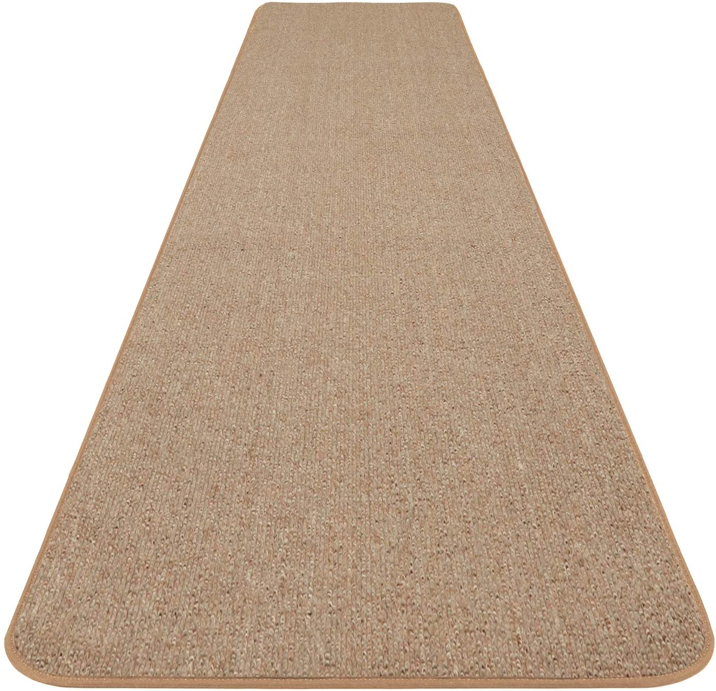 House, Home and More Skid-Resistant Carpet Runner - Pebble Beige - 8 Feet X 48 Inches