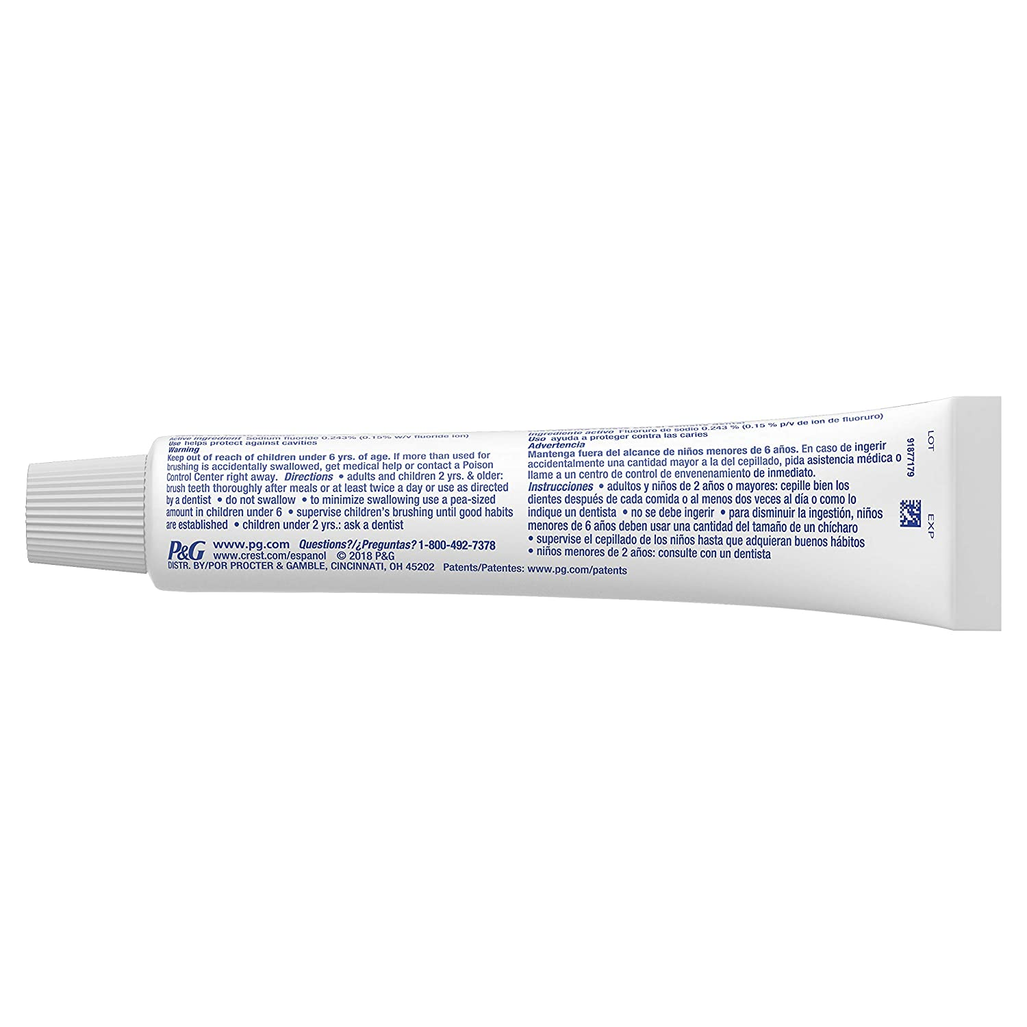 Crest Complete Whitening + Scope Toothpaste, Minty Fresh, 5 4 Ounce Triple  Pack