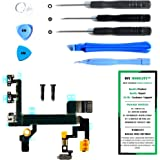 iPhone 5S Power Button, Proximity Light Sensor, and Microphone Flex Cable Replacement Kit with DM Tools and Instructions Included - DIYMOBILITY