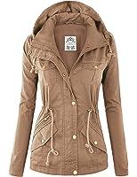 MBJ Womens Military Anorak Safari Hoodie Jacket - Made in USA