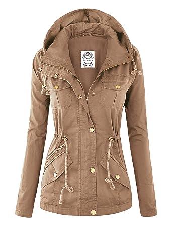 MBJ Womens Military Anorak Safari Hoodie Jacket at Amazon Women's ...