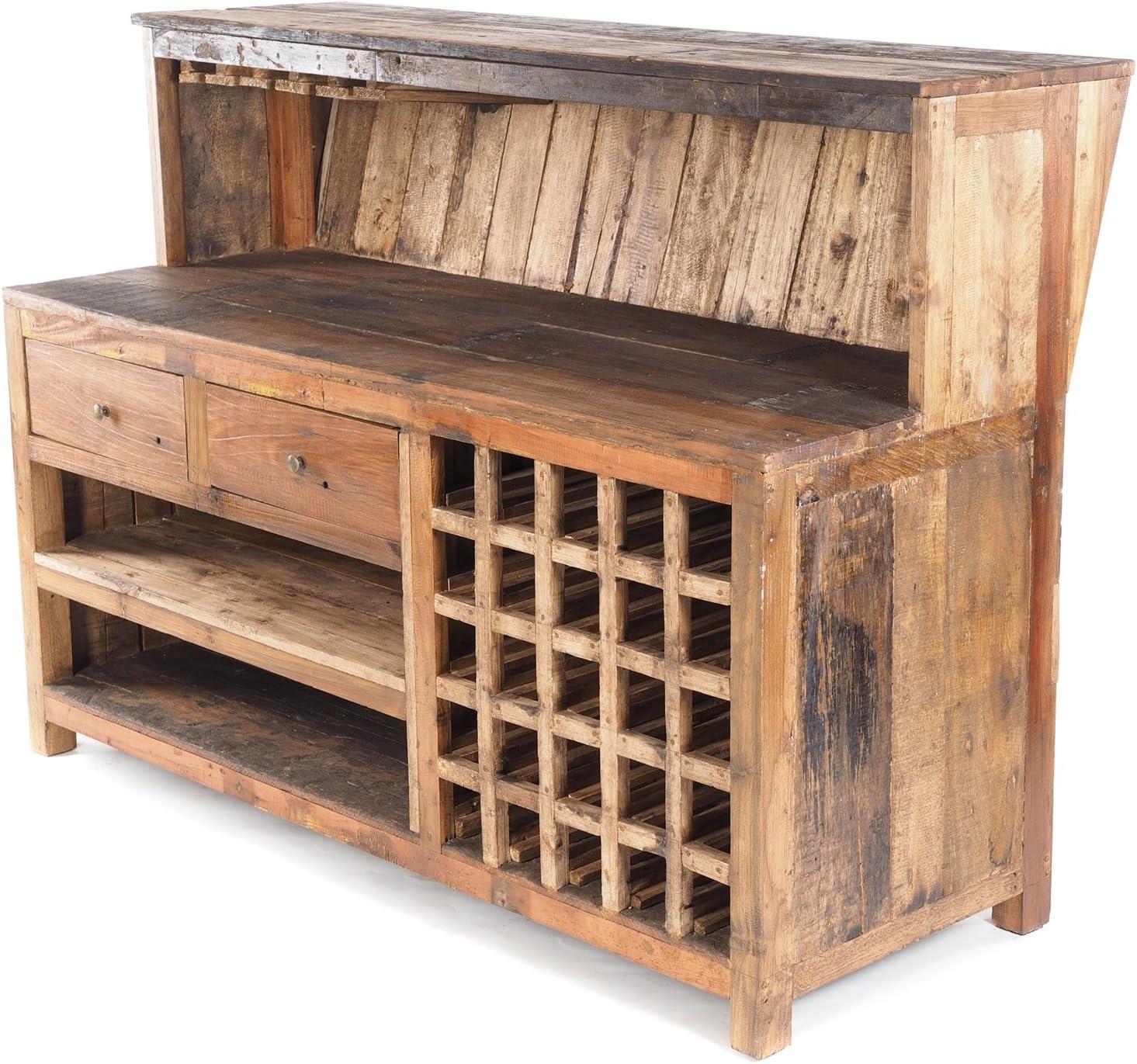 Vintage Design BARSCHRANK PUREWOOD   150x110x55cm(BxHxT)   Shabby Chick Minibar - Tresen kaufen