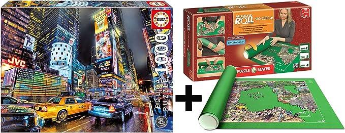 Outletdelocio Pack Puzzle Educa 15525. Times Square Nueva York. 1000 Piezas + Tapete Universal Puzzle Roll: Amazon.es: Juguetes y juegos