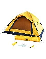 04c78cba1e905 Lumaland Outdoor leichtes Pop Up Wurfzelt 3 Personen Zelt Camping Festival  Sekundenzelt 210 x 190 x