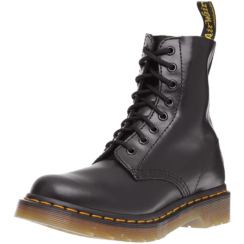 Dr. Martens Women's Pascal Leather Combat Boot B0072FUYQ6 8 UK/10 M US|Black Buttero