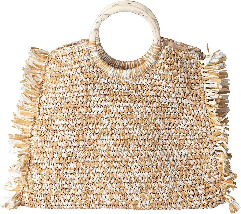 2001479001-053 Becks/öndergaard Korbtasche Damen Mix Falka Bag Nature Handtasche Henkeltasche Strandtasche Beige 100/% Bast