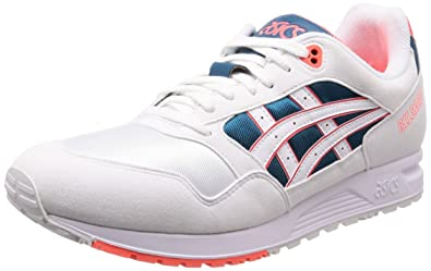c1d417f56e ASICS Tiger Men's Gelsaga White and Flash Coral Leather Sneakers-7 UK/India  (41.5 EU)(8 US) (1193A071.102)