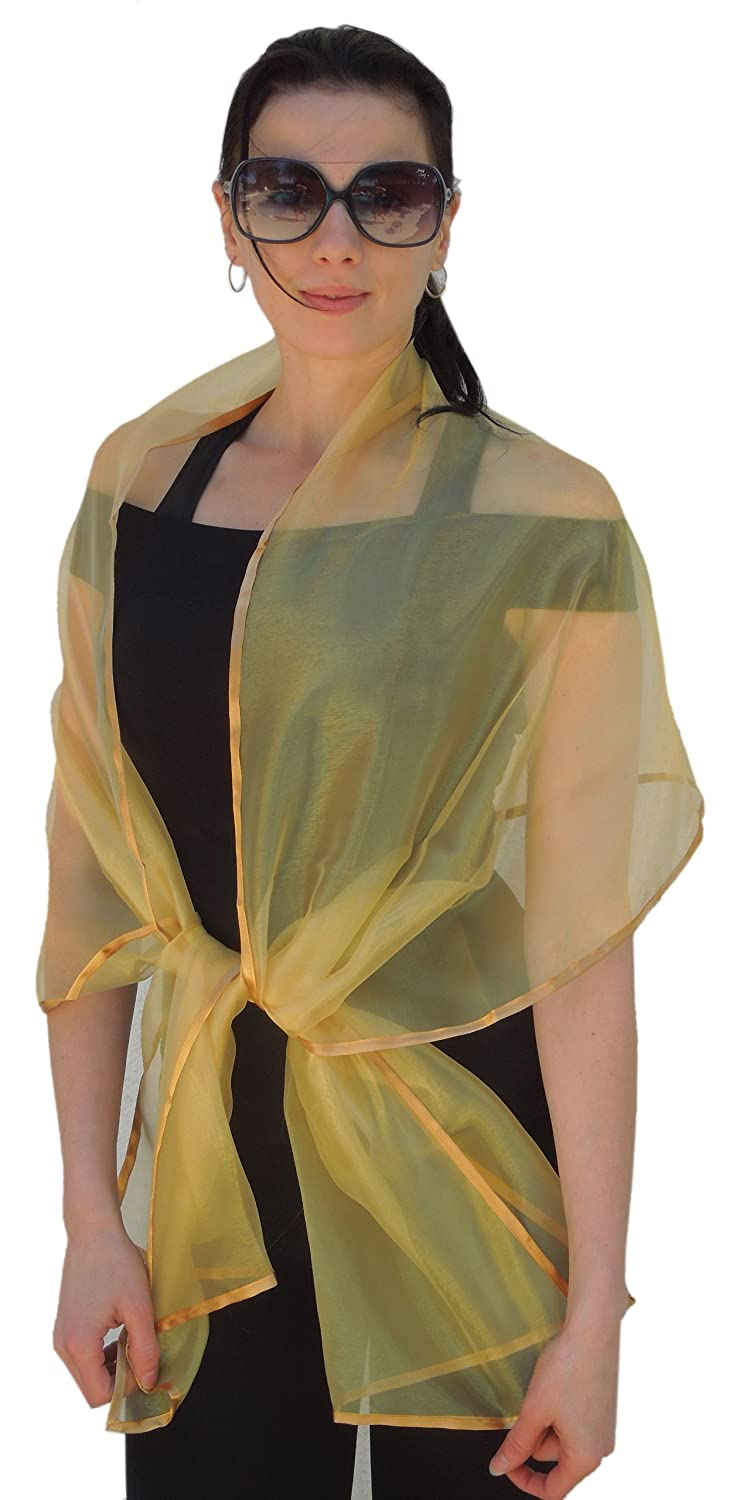 a87fbf15dd8 Amazon.com  Sheer Crystal Organza Evening Wrap Shawl for Prom Wedding Bride   Handmade