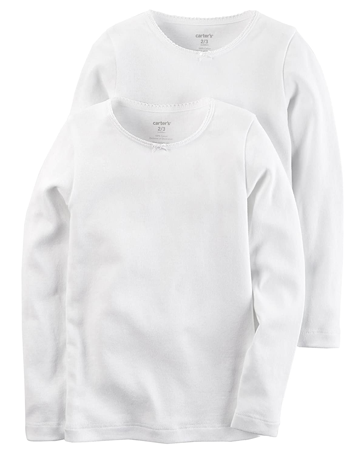 Carter's Little Girls' 2-pack White Cotton Tee Set Carter's