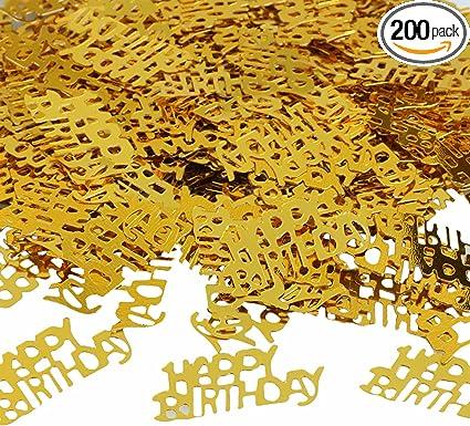 Happy Birthday Bash Metallic Color Confetti Table Decoration Party Celebration