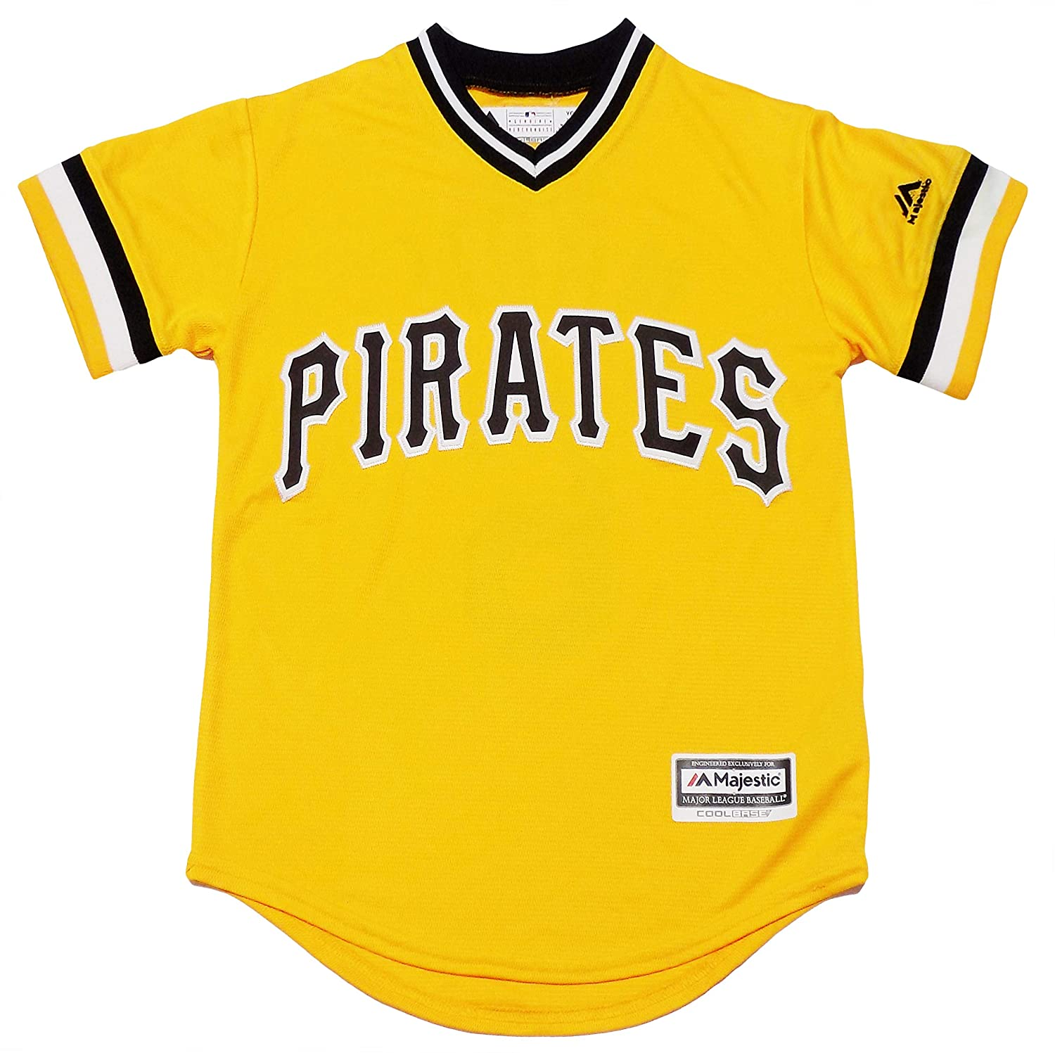 reputable site e70c5 d6769 Amazon.com: Starling Marte Pittsburgh Pirates Yellow Youth ...