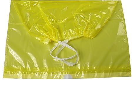 Amarillas bolsas de basura con cinta de cierre, 5 rollos ...