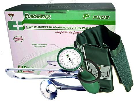 eurometer P + Color Tensiómetro aneroide profesional Manual con Fonendoscopio y bolso). Grande affidabilità