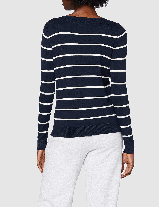 Vero Moda Vmlacole LS Boatneck Stripe Blouse Ga Su/éter para Mujer
