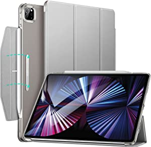 ESR Trifold Case Compatible with iPad Pro 11 Inch 2021 (3rd Generation), Lightweight Stand Case, Auto Sleep and Wake, Pencil 2 Wireless Charging, Ascend Series, Gray