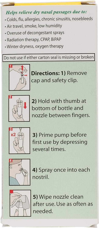 Ayr Saline Nasal Gel No-drip Sinus Spray With Soothing Aloe Vera, 0.75 Ounce Spray Bottle: Health & Personal Care