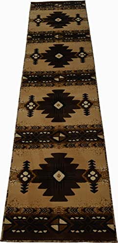 Rugs 4 Less Collection Southwest Native American Indian Long Runner Area Rug Design R4L 318 Beige Berber 2 4 x10 11