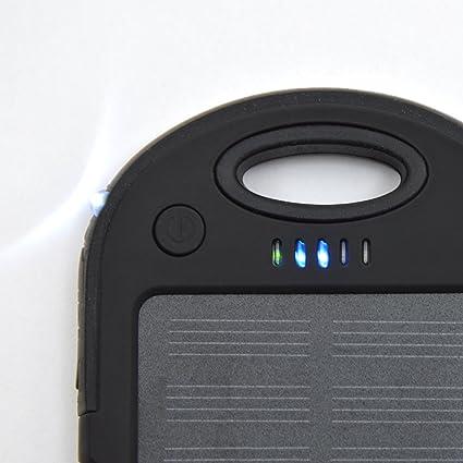 Apollo Powerbanksolar Kopenhagen, Color: Negro, el Cargador Solar de Exteriores con Puertos USB duales, la Batería Ideal de Repuesto para su Móvil, ...
