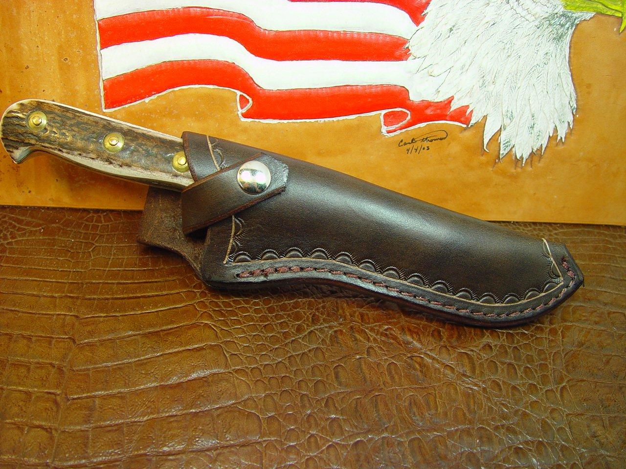 Custom Leather Sheath for Puma White Hunter Knife. Knife Not Included