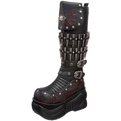 Amazon.com: Mens Combat Boots Black 4 Inch Platform Gothic ...