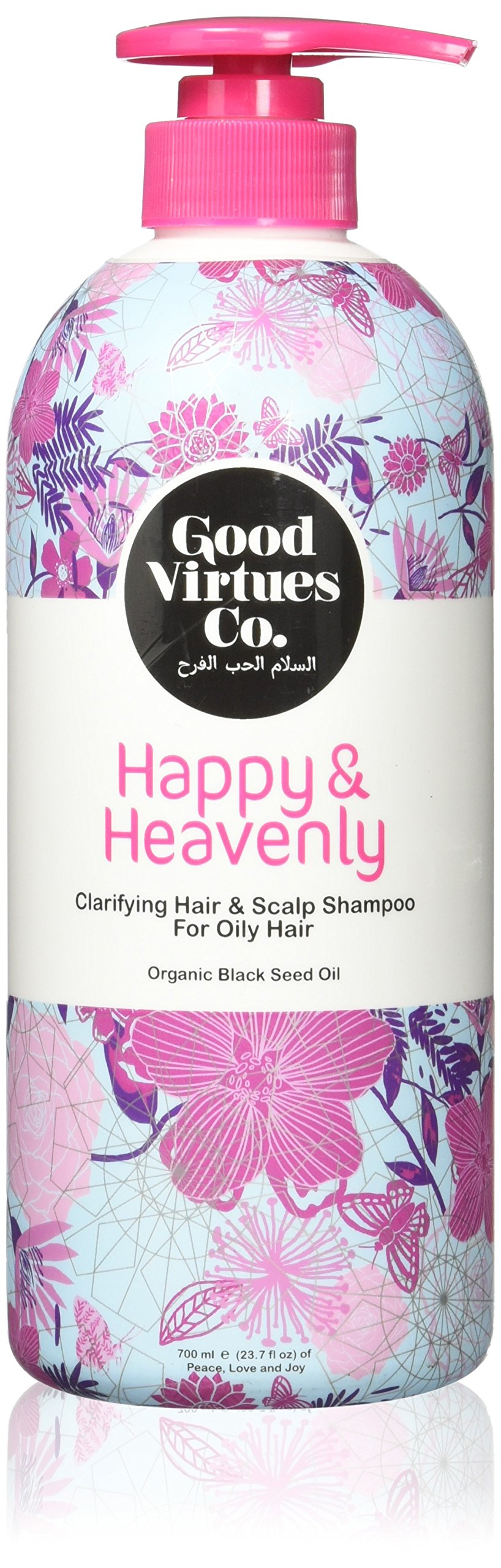 Good Virtues Co. Women Clarifying Shampoo for Daily Use, Deep Moisturizing, Suitable for Oily Hair, Itchy and Dry Scalp, 23.7 oz