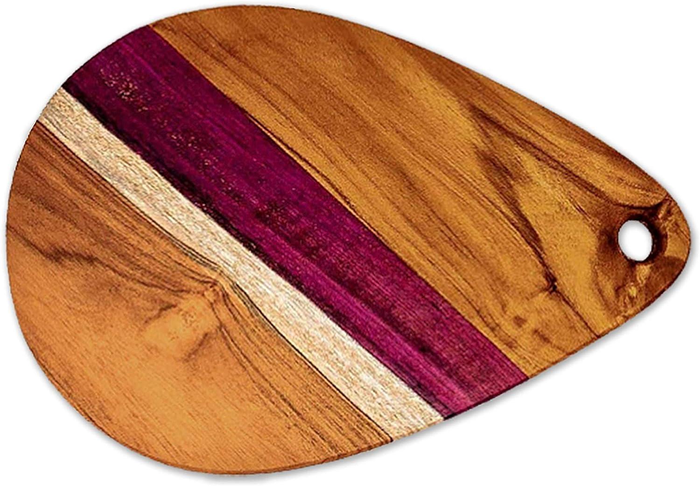 Large Cheese Board, Charcuterie Board - Teak wood cutting board cured with Organic Beeswax by Ziruma (15 x 10 x 1.2)