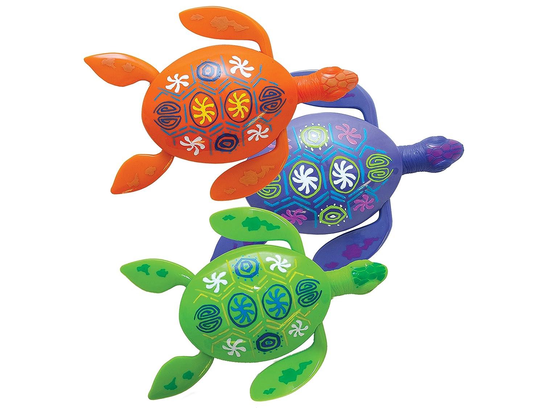 amazon com swimways rainbow reef turtles pool toy colors may