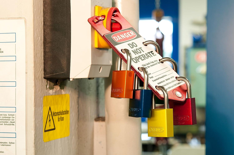 Long Shackle 1-1//2 ABUS 72//40 Aluminum Safety Padlock Blue Keyed Alike - 12 Pack