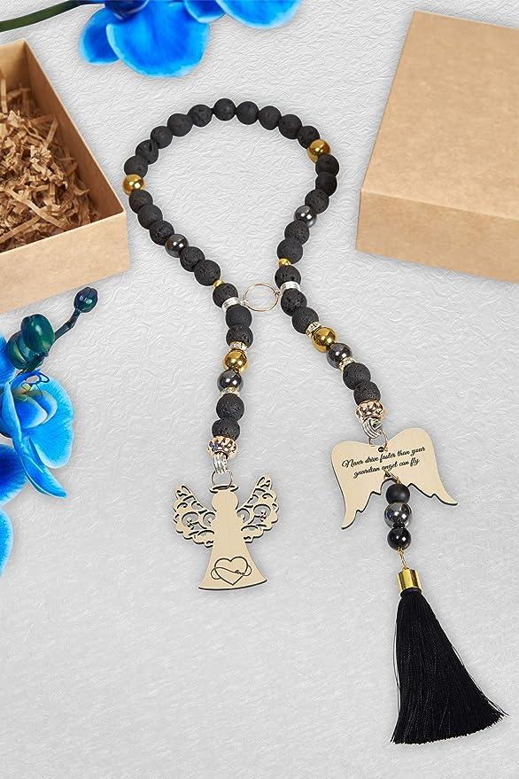 Verlike Auto Gear Shift Holz Buddha Perlen Armband R/ückspiegel H/ängende Ornament Home Decor S Bambusholz