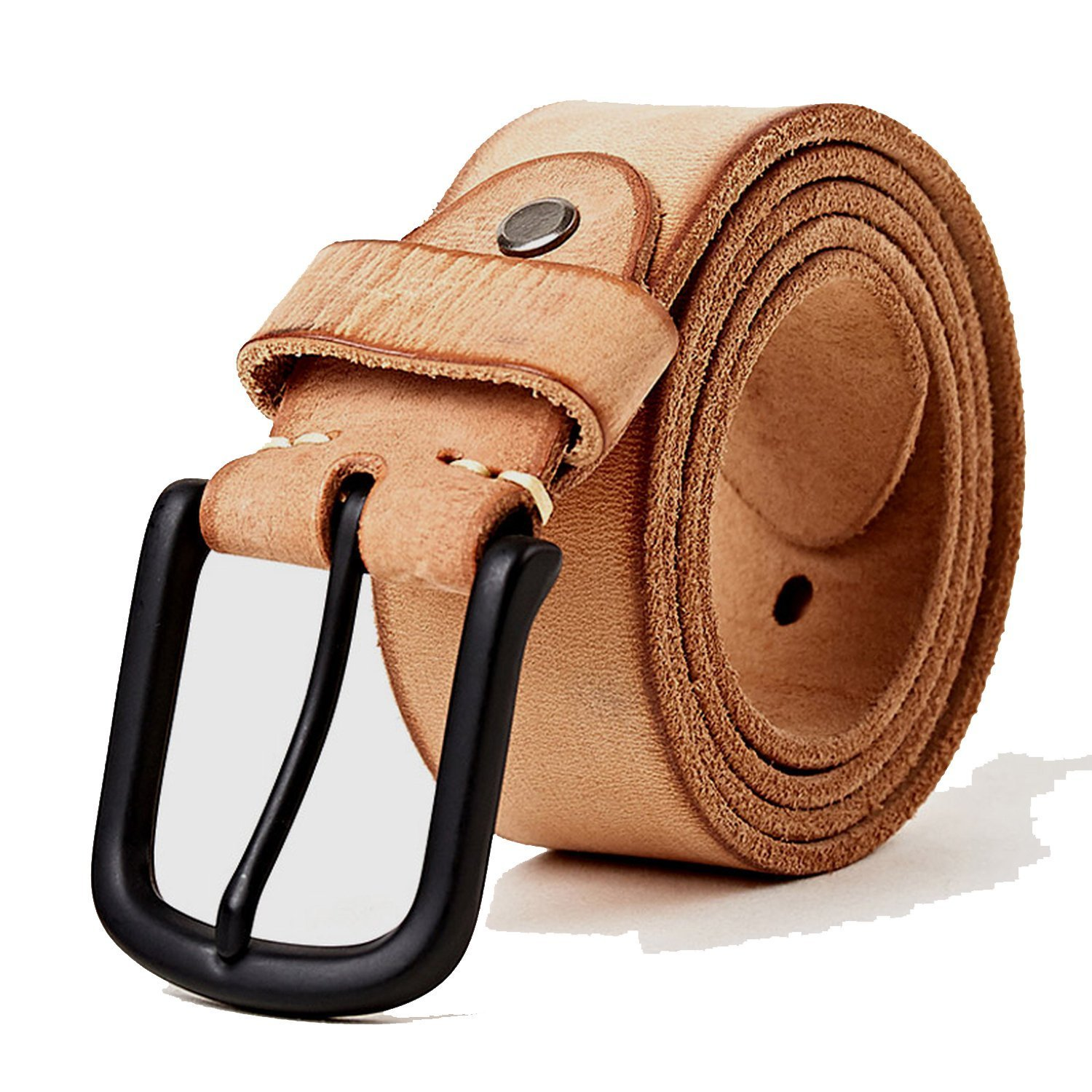 leather casual design belt's for men jeans casual pants men's leather belt Men's Gifts length,Camel,115cm