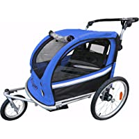 Booyah Strollers Child Baby Bike Bicycle Trailer and Stroller II (Blue)