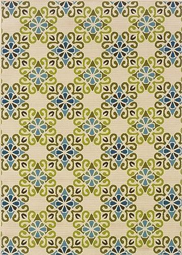 Oriental Weavers Sphinx Caspian Area Rug 3331W 8 6 x 13 Tan Blue