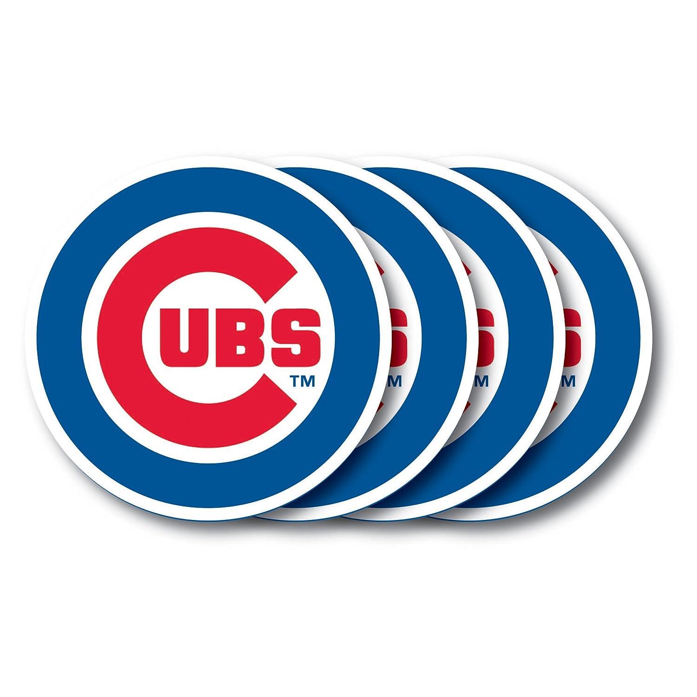 4 Pack Chicago Cubs Coaster Set