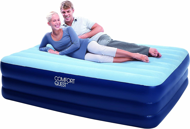 Bestway Luftbett Comfort Quest Premium Queen Size mit Eingebauter Pumpe 67451 203 X 152 X 56 cm
