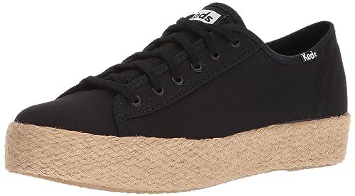 Keds TPL Kick Jute, Zapatillas para Mujer, Negro (Black 90), 41 EU