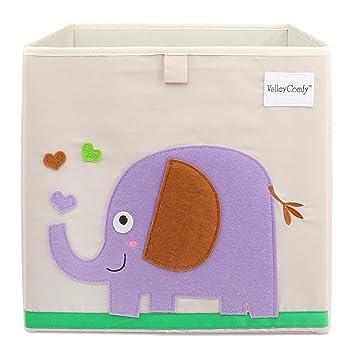 Superieur Foldable Storage Box Toy Bin 13 Inch, Elephant
