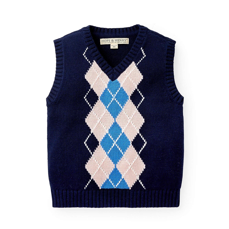 Hope /& Henry Boys V-Neck Sweater Vest