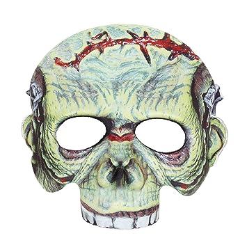 WIDMANN vd-wdm05701 Máscara de Tela sin barbilla monstruo, color verde, talla única