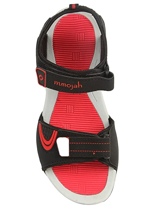 Mmojah Mens Easy-22 Black/Red Sandal -7