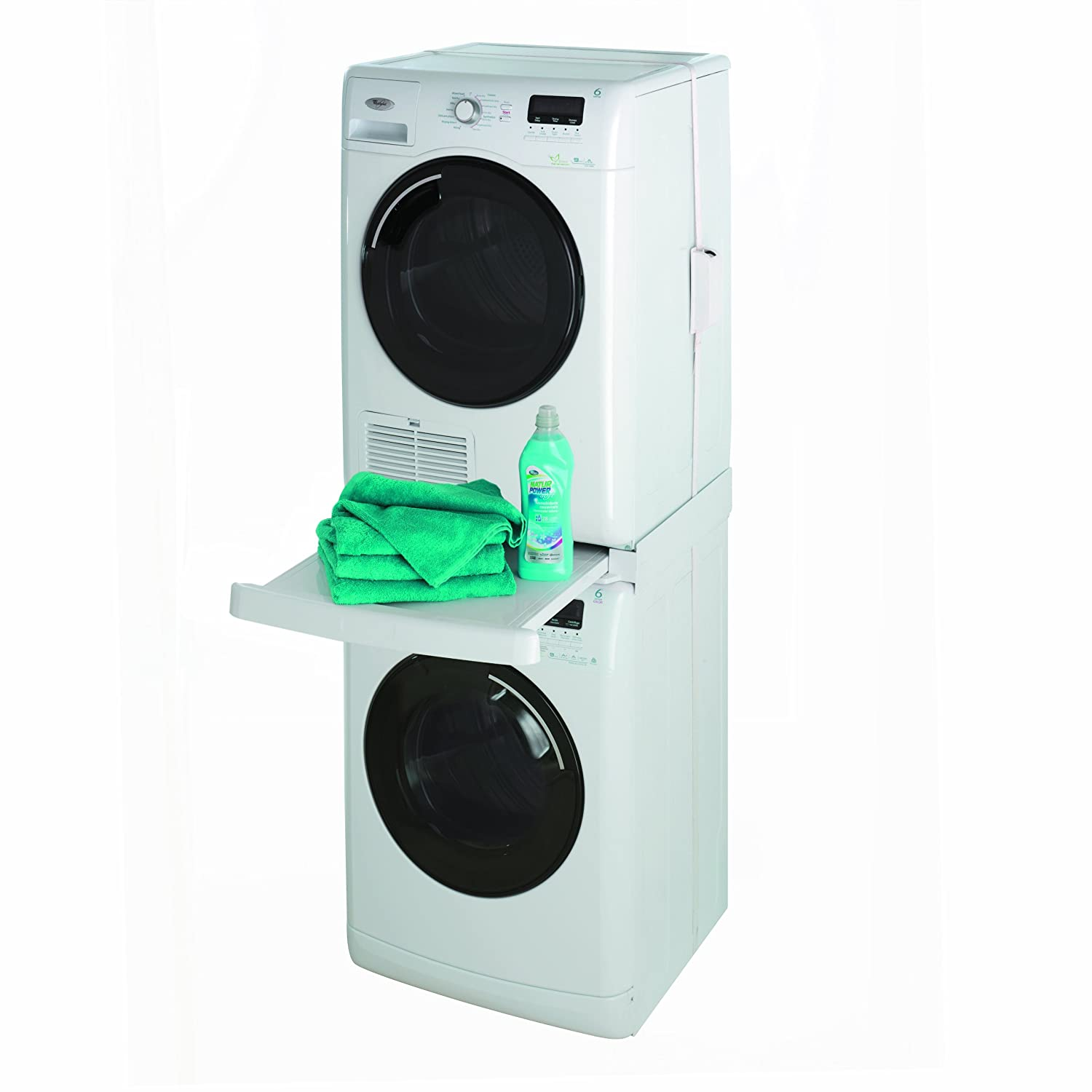 kit de superposition machine a laver et seche linge Wpro SKS 100 kit de superposition universel avec tablette pour lave-linge- seche-linge 60 x 60 cm: Amazon.fr: Cuisine u0026 Maison