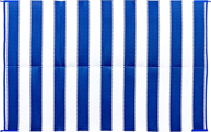 Camco Charcoal Stripe 42873 Awning Leisure Mat 6 X 9