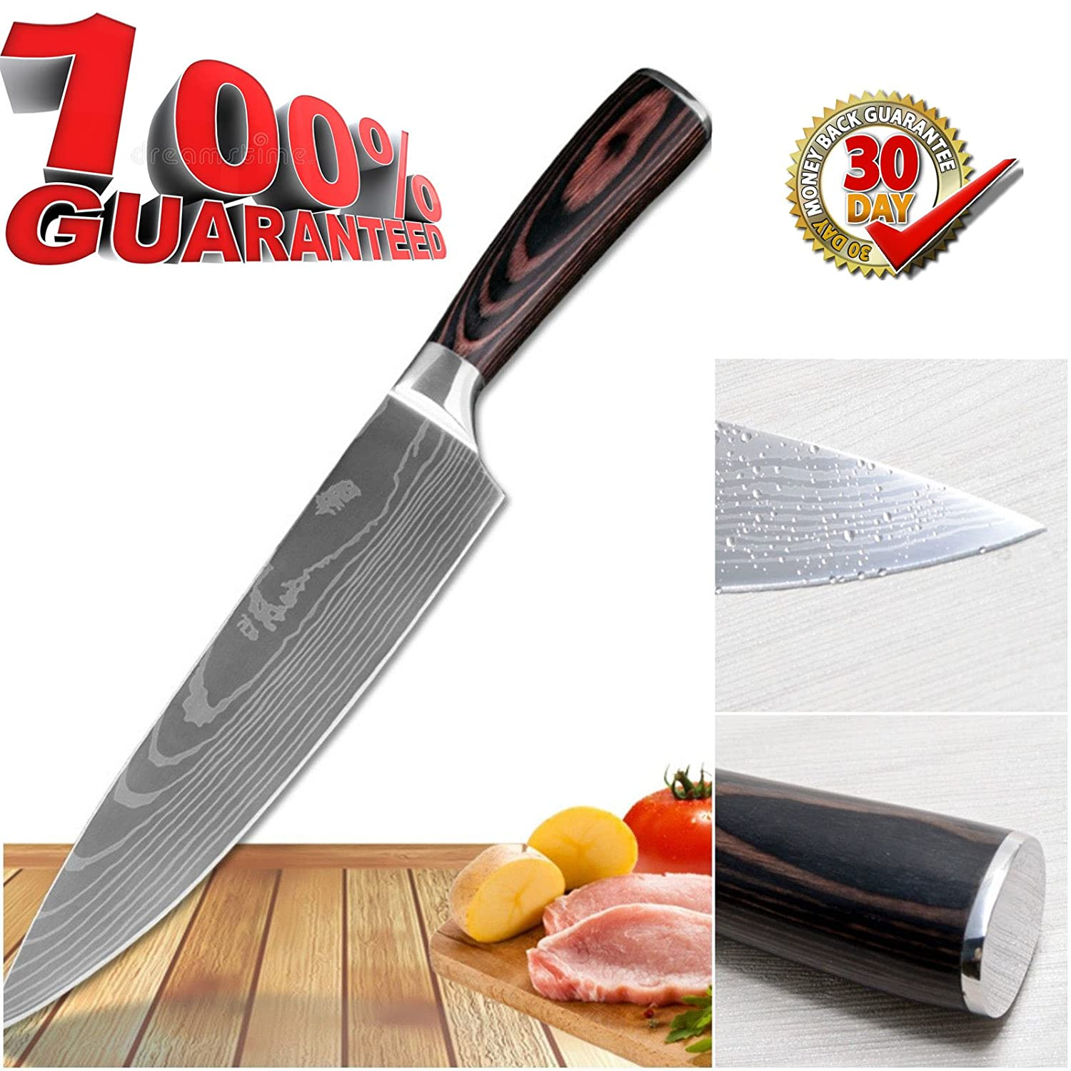 Amazon.com: The Best Quality 8 Inch Chef Knife By Kad ,Professional ...