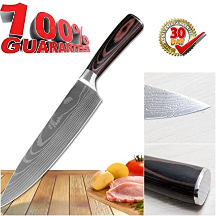 The Best Quality 8 Inch Chef Knife By Kad ,Professional Chopping Knife for Budding Kitchen Cooks and Pro Chefs,Stainless Steel Kitchen Sharp Knife ...