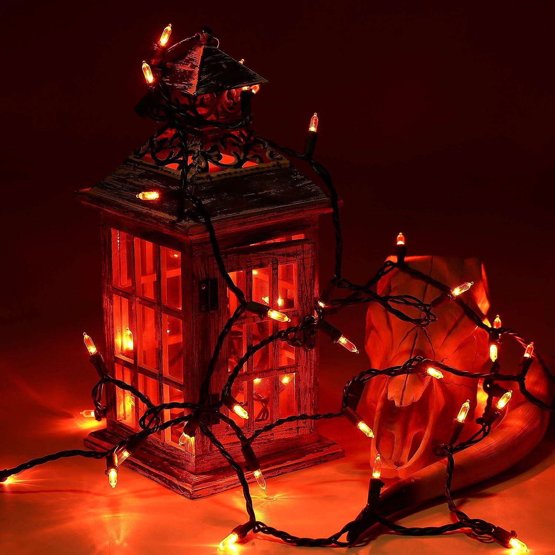 Amazoncom Brizled Halloween Lights Orange, 33Ft 100 Led Halloween String