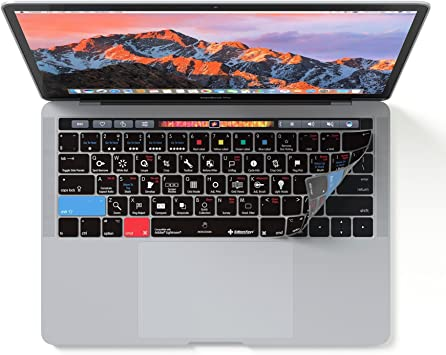 For Adobe Lightroom Silicone Keyboard Cover Skin For Macbook Pro Touch Bar 13 15