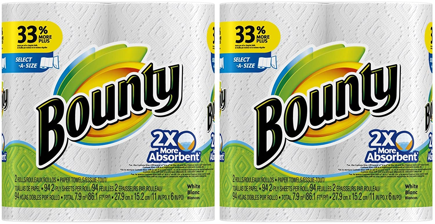 Amazon.com: Bounty Select-A-Size Paper Towels, White - 4 pk: Health & Personal Care